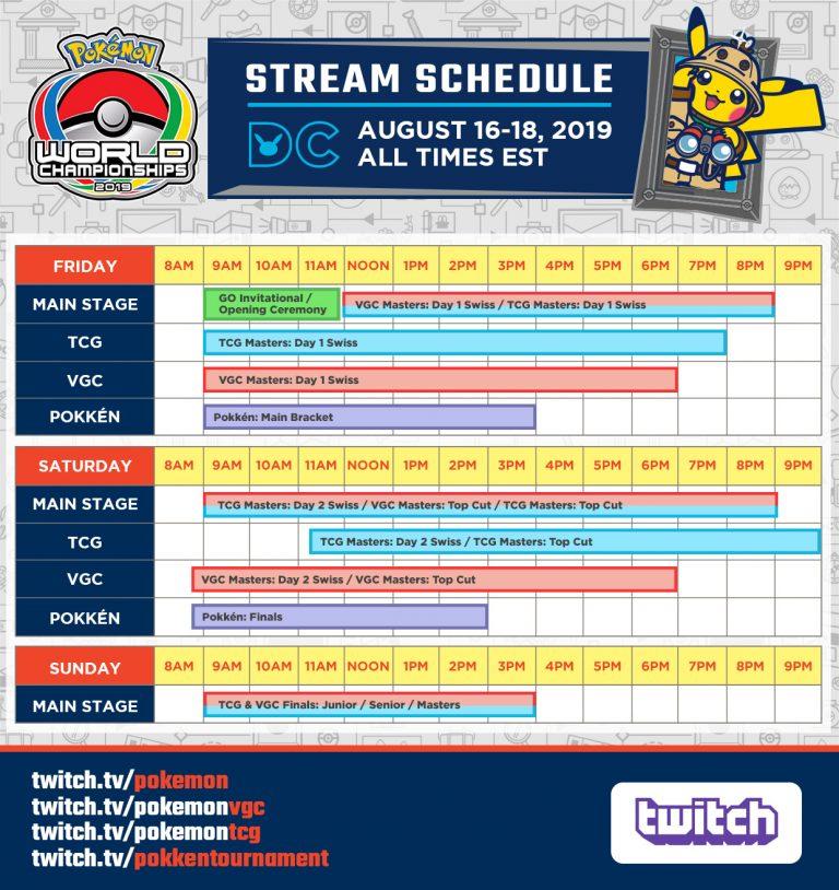 Horarios Pokémon World Championships 2019